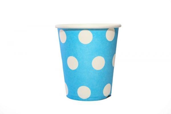 Blue Polka Dot Paper Cup