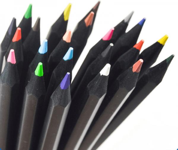 Colour Pencils Blak 12 Pack (Statesman)