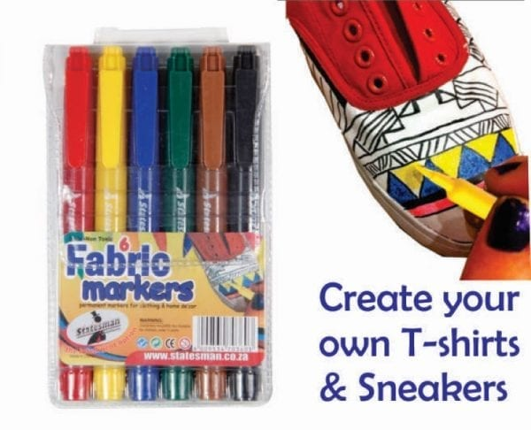 Fabric Markers 6 Piece (Statesman)