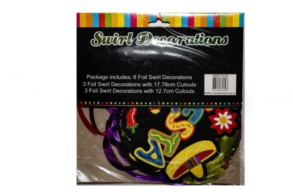 Fiesta Swirl Decorations