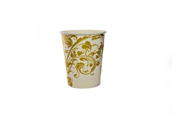 Gold and White Paper Cup
