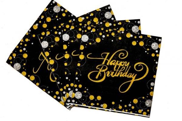 Happy Birthday Serviettes