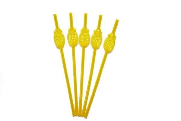 Pineapple Plastic Straws