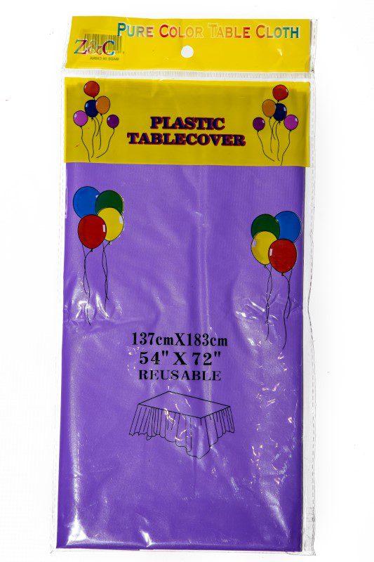 Purple Plastic Table Cover