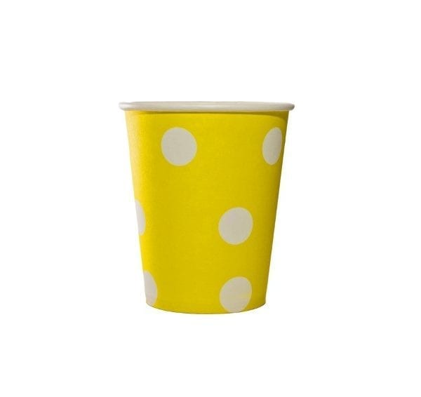 Yellow Polka Dot Paper Cup