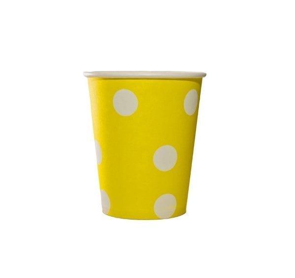 Yellow Polka Dot Paper Cup