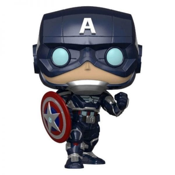 Funko POP! Marvel: Avengers Game - Captain American (Stark Stealth Suit)