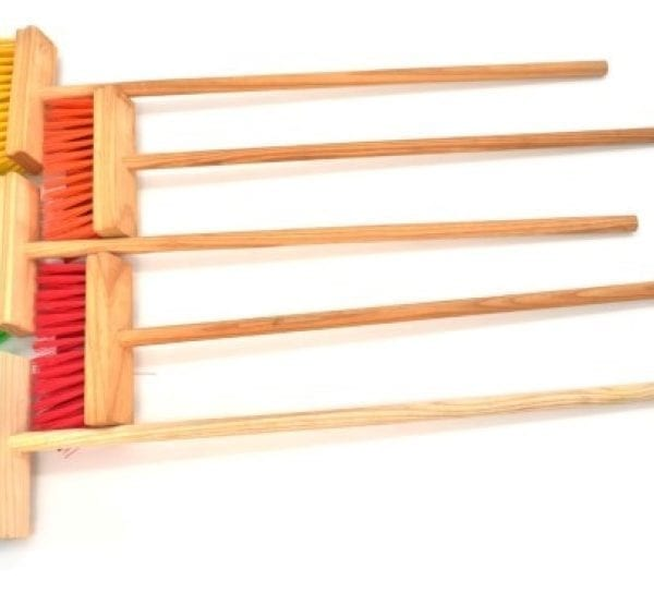 Wooden Toy Broom - Assorted