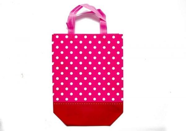 Pink Polka Dot Gift Bag