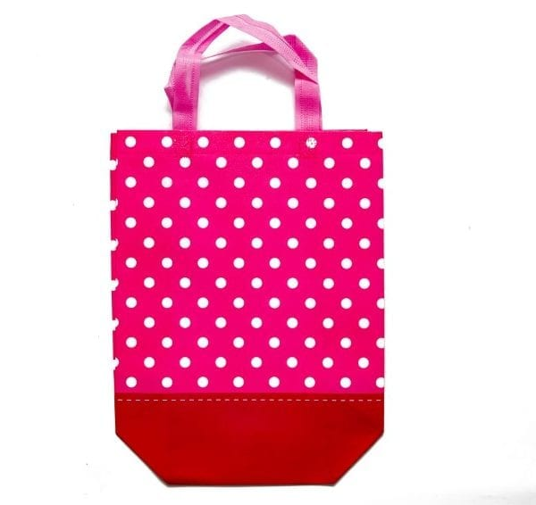 Pink Polka Dot Gift Bag