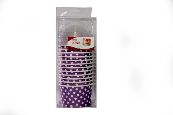 Purple Polka Dot Baking Cups