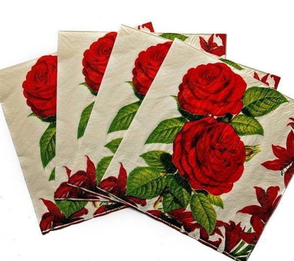Red Rose Serviettes