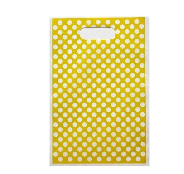 Yellow Polka Dot Party Loot Bag