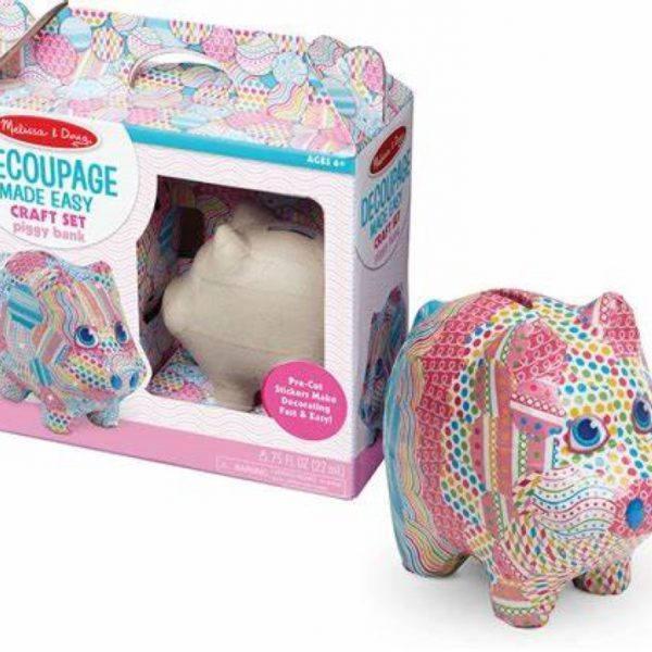 Melissa and Doug Decoupage Made Easy - Piggy Bank