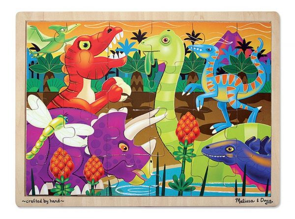 Prehistoric Sunset Jigsaw Puzzle (24 pc)