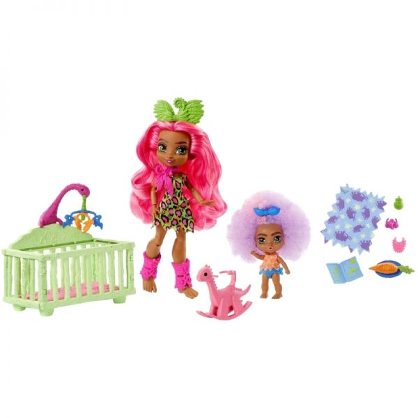 Cave Club Wild About Babysitting Playset and Fernessa and Furrah Dolls_Picture 3