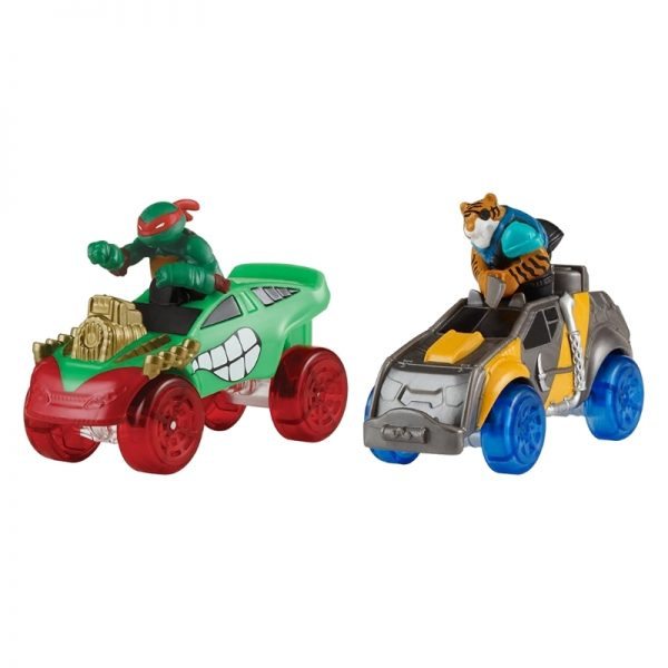 Teenage Mutant Ninja Turtles T-Machines Basic Vehicle 2pack - Raph in Monster Truck and Tiger Claw In Safari Truck_Picture 1