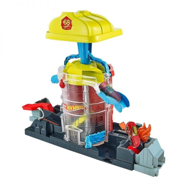 Hot Wheels Super City Fire House Rescue Play Set_Picture 1