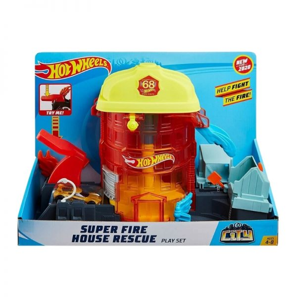 Hot Wheels Super City Fire House Rescue Play Set_Picture 3
