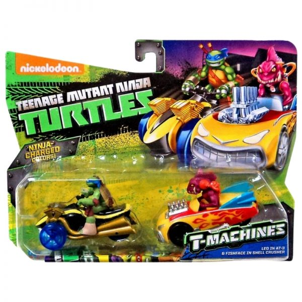 Teenage Mutant Ninja Turtles T-Machines Leo in AT-3 and Fishface in Shell Crusher Diecast Car 2-Pack_Picture 2